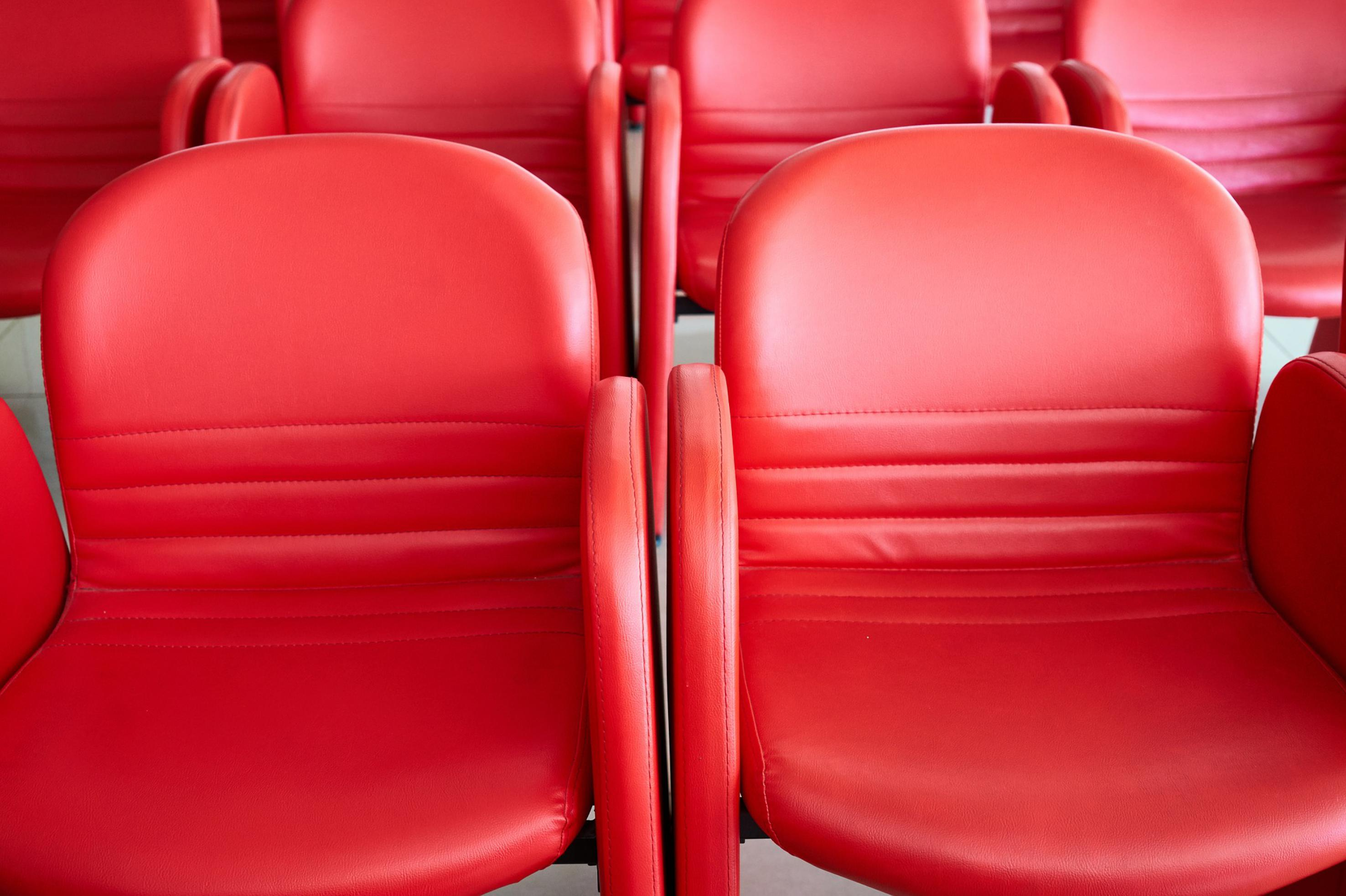 Image of red chairs